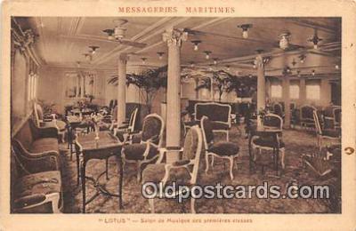 shi050213 - Lotus, Salon de Musique Des Premieres Classes Messageries Maritimes Ship Postcard Post Card