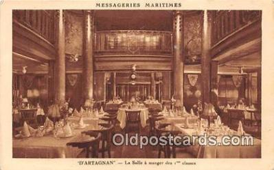shi050214 - D'Artagnan, La Salle A Manger Des 1 Classes Messageries Maritimes Ship Postcard Post Card