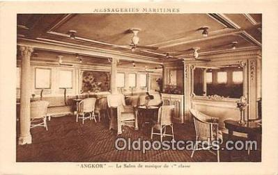 shi050215 - Angkor, Le Salon De Musique De 1 Classe Messageries Maritimes Ship Postcard Post Card