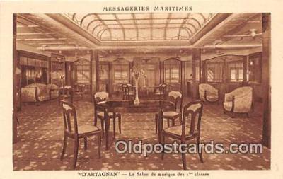 shi050221 - D'Artagnan, Le Salon De Musiqe Des 1 Classes Messageries Maritimes Ship Postcard Post Card
