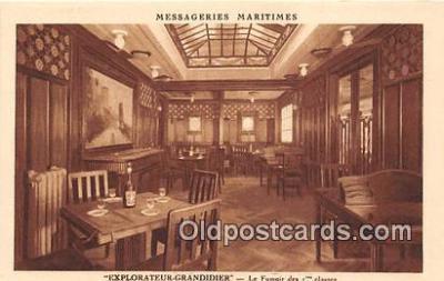 shi050223 - Explorateur Grandidier, Le Fumoir Des 1 Classes Messageries Maritimes Ship Postcard Post Card