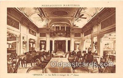 shi050224 - Sphinx, La Salle A Menger De 1 Classe Messageries Maritimes Ship Postcard Post Card
