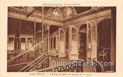shi050230 - Paul Lecta, L'Entrée DU Salon De Musique De 1 Classe Messageries Maritimes Ship Postcard Post Card