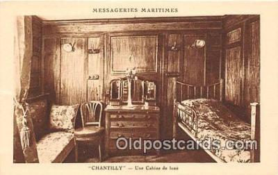 shi050233 - Chantilly, Une Cabine De Luxe Messageries Maritimes Ship Postcard Post Card