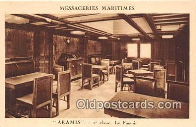 shi050234 - Aramis, 2 Classe Le Fumoir Messageries Maritimes Ship Postcard Post Card