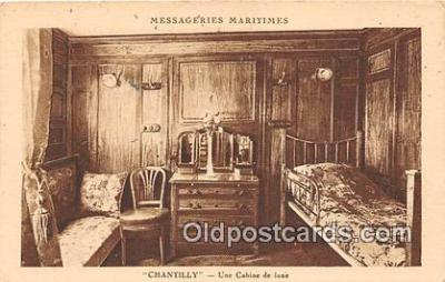 shi050241 - Chantilly, Une Cabine De Luxe Messageries Maritimes Ship Postcard Post Card