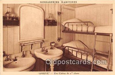 shi050243 - Sphinx, Une Cabine De 2 Classe Messageries Maritimes Ship Postcard Post Card