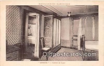 shi050246 - Sphinx, Cabine De Luxe Messageries Maritimes Ship Postcard Post Card