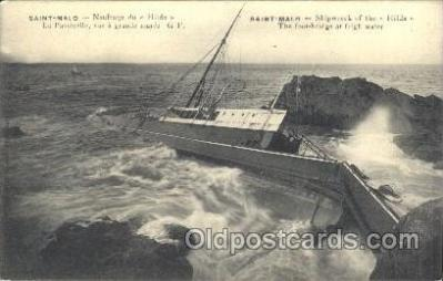 shi051005 - Saint-Malo Ship Wrecks, Ships Postcard Postcards
