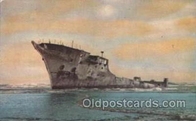 shi051012 - Hull of former navy ship Intrepid Ship Wrecks, Ships Postcard Postcards