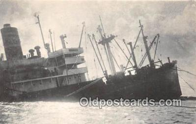 shi051018 - SS Guam Bear Collided with a Tanker at Apra Harbor 1967 Ship Postcard Post Card