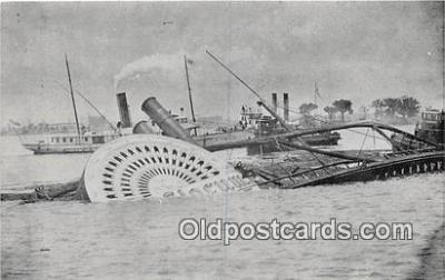 shi051021 - Reproduction - General Slocum Steamboat Wreck  Ship Postcard Post Card