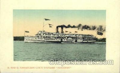 shi052014 - R. and O. Navigation Coy's Streamer Kingston Ferry Boat Boats, Ship Ships Postcard Postcards