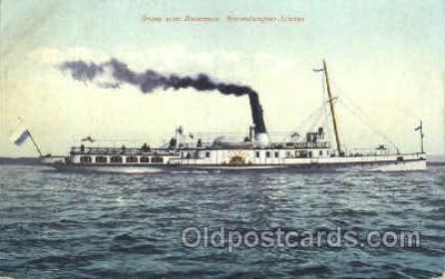 shi052018 - Gruss vom Bodensee Salondampfer Lindau Ferry Boat Boats, Ship Ships Postcard Postcards