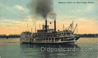 shi052019 - Steamer Alton on Mississippi River Ferry Boat Boats, Ship Ships Postcard Postcards