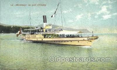 shi052022 - Le Montreux au port d'Ouchy Ferry Boat Boats, Ship Ships Postcard Postcards