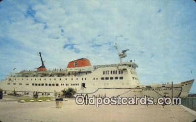 shi052025 - El Moderno Transborddor, Peurto Vallarta, This Ferry Connects, Cabo San Lucas To California, Peurto Vallarta, Mexico Ferry Ship Postcard Post Card