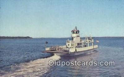 shi052043 - The Governor Muskie, Lincolnville, Maine ME USA Ferry Ship Postcard Post Card