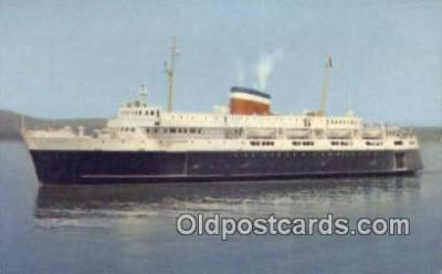 shi052044 - Car Ferry Bluenose, Bar Harbor, Maine, ME USA Ferry Ship Postcard Post Card