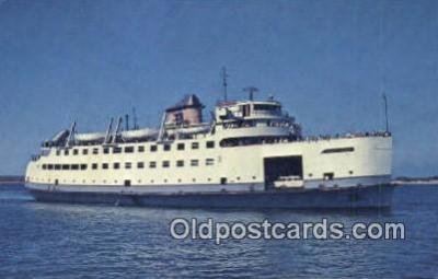 shi052045 - The MV Nantucket, Cape Cod, Massachusetts, MA USA Ferry Ship Postcard Post Card