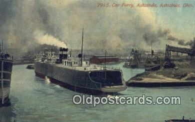 shi052046 - Car Ferry Ashtabula, Ashtabula, Ohio, OH USA Ferry Ship Postcard Post Card