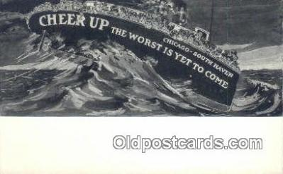 shi052047 - Ferry Ship Postcard Post Card