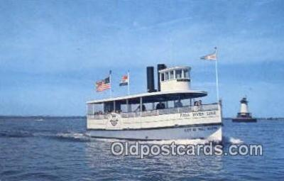 shi052048 - Fall River  Line Ferry Ship Postcard Post Card
