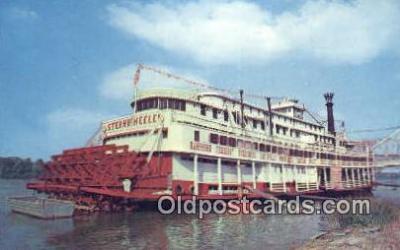 shi052059 - Sternwheeler, Owensboro, Kentucky, KT USA Ferry Ship Postcard Post Card