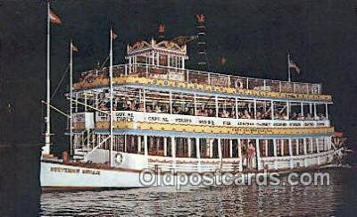 shi052060 - Southern Belle Showboat, Fort Lauderdale, Florida, FL USA Ferry Ship Postcard Post Card