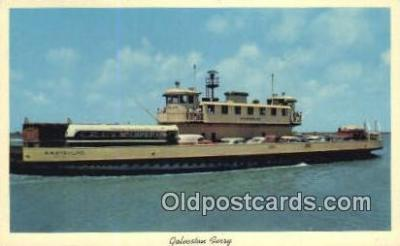 shi052066 - Galveston Ferry, Galveston, Texas, TX USA Ferry Ship Postcard Post Card