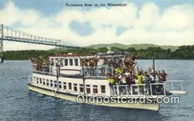 shi052067 - Excursion Boat On The Mississippi River, USA Ferry Ship Postcard Post Card