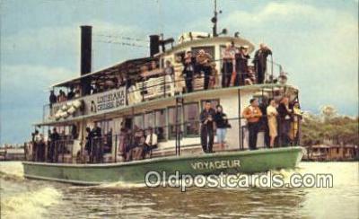 shi052068 - Bayou Barataria Cruise To Lafitte, Louisiana, LA USA Ferry Ship Postcard Post Card