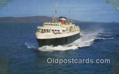 shi052069 - The Yarmouth Bar Harbor Ferry, Bluenose, Nova Scotia Ferry Ship Postcard Post Card