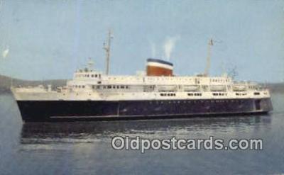 shi052073 - Car Ferry Bluenose, Bar Harbor, Maine, ME USA Ferry Ship Postcard Post Card