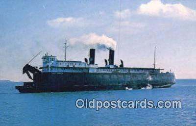 shi052080 - Chief Wawatam Railroad Car Ferry, Michigan, MI USA Ferry Ship Postcard Post Card