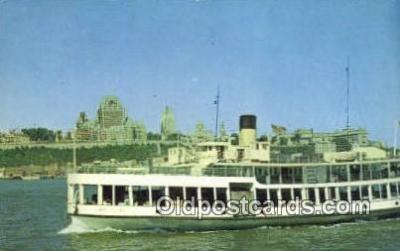 shi052086 - Quebec, PQ, Canada Ferry Ship Postcard Post Card