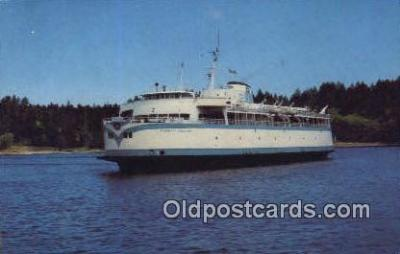 shi052092 - Continental Size, MV Queen Of Nanaimo, Victoria, British Columbia, BC  Ferry Ship Postcard Post Card
