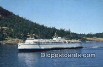shi052094 - Continental Size MV Queen OF Esquimalt, Victoria, British Columbia, BC  Ferry Ship Postcard Post Card