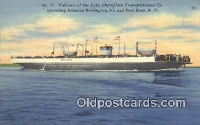 shi052103 - MV Valcour, Port Kent, Kentucky, KT USA Ferry Ship Postcard Post Card
