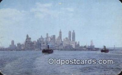 shi052113 - Ferry Boat From Staten Island, New York City, New York, NY USA Ferry Ship Postcard Post Card