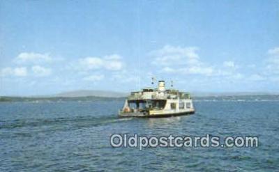 shi052115 - MV Adirondack Ferry, Burlington, Vermont, VT USA Ferry Ship Postcard Post Card