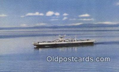 shi052118 - MV Valcour, Port Kent, Kentucky, KT USA Ferry Ship Postcard Post Card