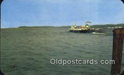 shi052120 - The Falcon Streamline Ferry, Burlington, Vermont, VT USA Ferry Ship Postcard Post Card