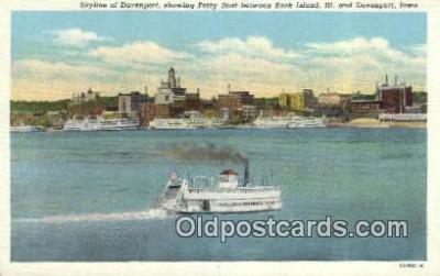 shi052125 - Ferry, Rock Island Ferry Ship Postcard Post Card