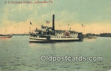 shi052136 - SS Frederick DeBary, Jacksonville, Florida, FL USA Ferry Ship Postcard Post Card