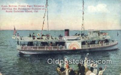 shi052143 - Glass Bottom Boat, Avalon Catalina Island, California, CA USA Ferry Ship Postcard Post Card