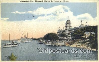 shi052146 - Alexandria Bay, Thousand Islands, St Lawrence River Ferry Ship Postcard Post Card