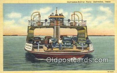 shi052156 - Galveston Ferry, Galveston, Texas, TX USA Ferry Ship Postcard Post Card