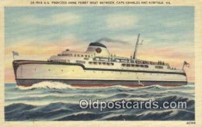 shi052158 - The SS Princess Anne Ferry Boat, Cape Charles, Virginia, VA USA Ferry Ship Postcard Post Card