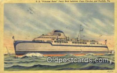 shi052159 - The SS Princess Anne Ferry Boat, Cape Charles, Virginia, VA USA Ferry Ship Postcard Post Card